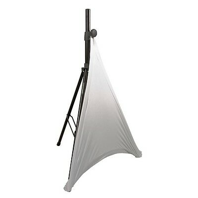 American Audio White Tripod DJ PA Speaker stand Cover Lighting Scrim