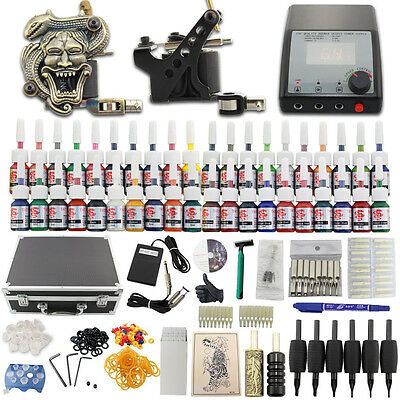 Completi Kit Tatuaggio 2 Macchinetta Tatuaggi Tattoo Machine 40 Ink Supply DC06