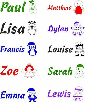Personalised Christmas Children/kids Name Rubber Stamp 11069 Novelty Fun Cards