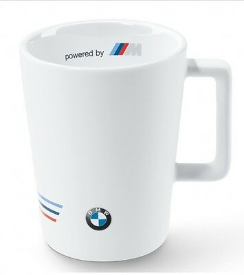 BMW Genuine Motorsport Ceramic Coffee Mug Tea Cup in White 300ml