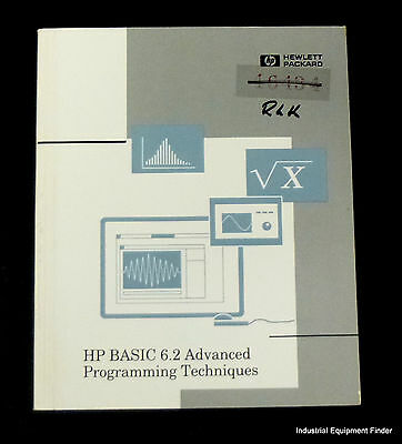 HP Basic 6.2 Advanced Programming Techniques 98616-90012