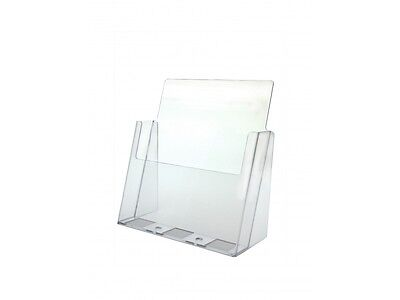 Marketing Holders Clear Countertop Brochure Holder for 8.5x11 Literature