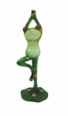 Glazed Yoga Frog Figurine YX6011H