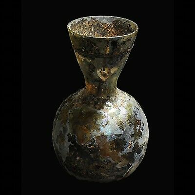 Aphrodite- Tall Ancient Roman  Glass Flask