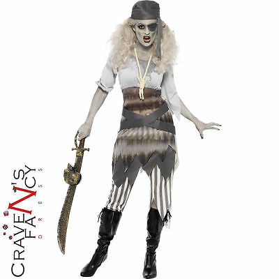 Ladies Ghost Ship Costume Shipwrecked Sweetie Pirate Halloween Fancy Dress