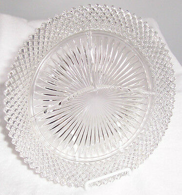 """Miss American Crystal 10"""" Grill Plate"""