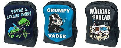 Flip Flop Fangs Backpacks Harry Potter Darth Vader Walking Dead Black Blue Navy