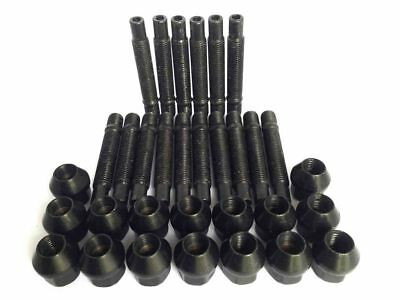 M14 x 1.5 90mm Stud Conversion Kit for Seat Cars Including Nuts (Black)