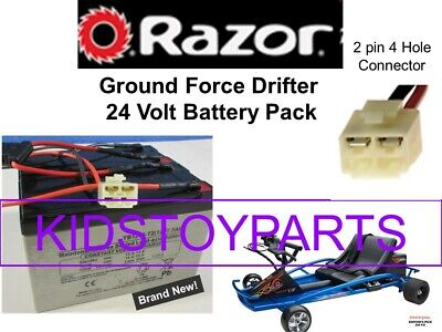 New! 24V Battery Pack for Razor Drifter Ground Force Go Cart Kart With Harness!