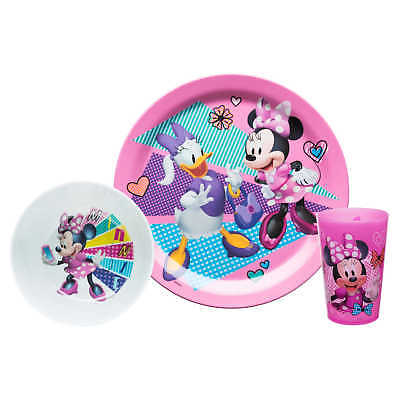 Minnie Mouse Plate, Bowl & Cup Set.