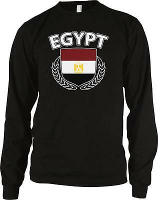 Arab Republic of Egypt Flag Shield Branches Egyptian Pride Long Sleeve Thermal
