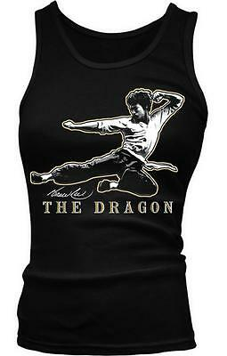 Bruce Lee The Dragon Action Movie Star Legend Martial Artist Boy Beater Tank Top