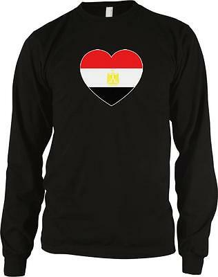 Arab Republic of Egypt Heart Love Flag Egyptian Pride Long Sleeve Thermal