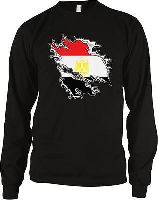 Arab Republic of Egypt Shred Flag Egyptian Pride Long Sleeve Thermal