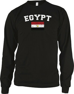 Egypt Country Flag Pride Egyptian Arab Football Soccer Long Sleeve Thermal