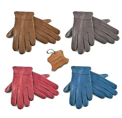 Ladies Leather Gloves Womens 100% Genuine Sheepskin Winter Warm Lined Driving