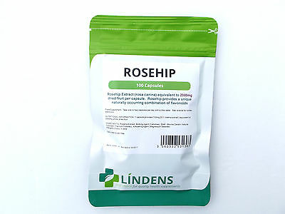 Lindens Rosehip Extract 2000Mg X 100 Capsules Health Supplement Joint / Cardio