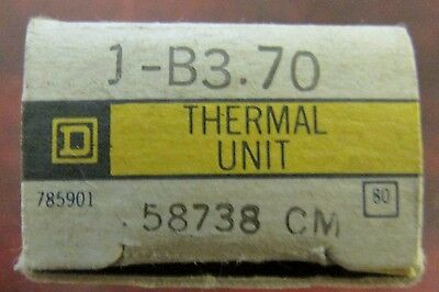SQUARE D B3.70 Thermal Overload Relay Heater Element B3 70