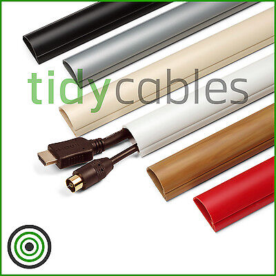 D-Line 30x15 TV Cable Tidy Cover Wire Hide Trunking 1m, 1.25m, 1.5m Lengths