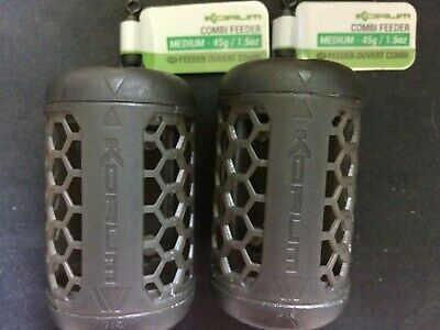 2 X Korum Combi Feeders - Block End And Open End Feeder Fishing