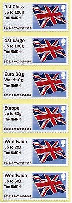 GB Post & Go Flag with overprint 'The NMRN '