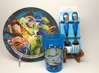 Toy Story Plate, Cup, Spoon & Fork Set