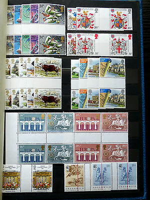Great Britain Commemorative Issues 1984 Gutter Pairs