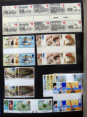 Great Britain Commemorative Issues 1985 Gutter Pairs