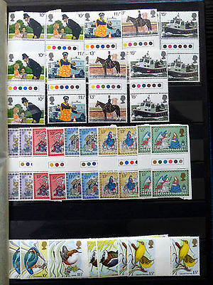Great Britain Commemorative Issues 1980 Gutter Pairs