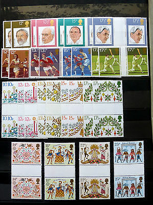 Great Britain Commemorative Issues 1981 Gutter Pairs