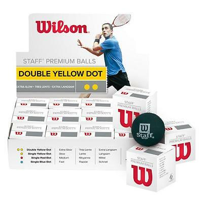 Wilson Staff Squash Balls One Dozen (One Box Of 12 Squash Balls) Free Uk Tracked