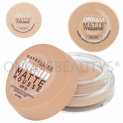Maybelline Dream Matte Perfection Mousse Foundation 18ml – Choose Your Shade