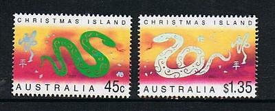 Stamps Australia  Christmas Island  2001 Year Of The Snake  Stamps  (Mnh)  C2