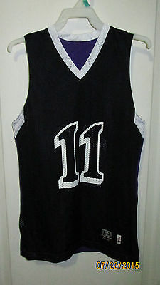5 Youth Reversible Black Purple White Custom Made Basketball Jerseys 1 5 8 11 22