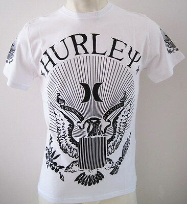 Brand New HURLEY 'MERCY SOLID' Mens T-shirt Size S M L XL XXL white