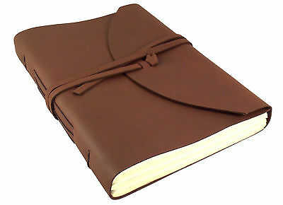 LARGE Leather Journal Diary Sketchbook Notebook Handmade Vintage Blank Retro NEW