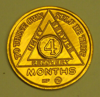Alcoholics Anonymous - 4 Month Anniversary Chip - Medallion - Token