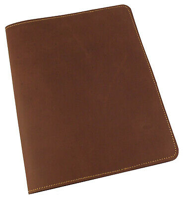 Refillable GENUINE Leather Composition Notebook Cover Notepad RUSTIC Hand Made