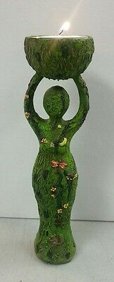 Nature Earth Goddess Mother Tall Votive Candle Holder or Offering Bowl #32438