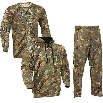 3 pc King's Camo Woodland Classic Cotton Bundle Pants Hoodie Shirt Lot All Sizes
