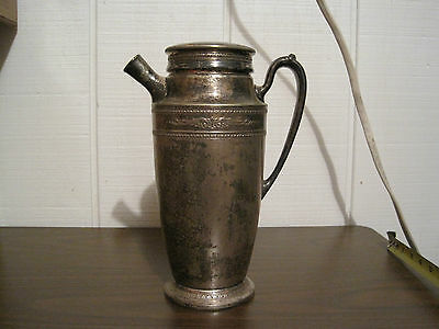 Vintage Silverplate Homan Plate On Nickel Silver 1 1/2 Qt. Sani-Tite Pitcher