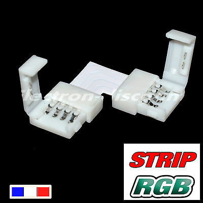 connecteur RGB angle droit sans soudure  pour strip LED 5050  - ruban LED