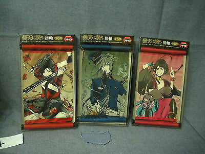 Laughing Under the Clouds Japan Anime Mini Scrolls Lot of 3