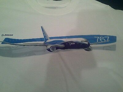Boeing 767 tee shirt S white by Boeing