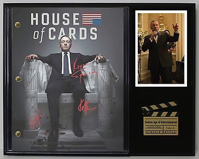 House of Cards - Reprinted Autograph Hollywood Script Display - USA Ships Free