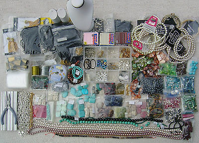New/Vintage Handcrafted Jewellery lot with Jewelry makeing Material For Sale