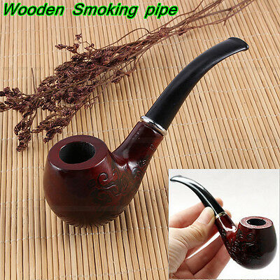 Vintage Wooden Enchase Cigarettes Pipe Tobacco Gorgeous Cigar Smoking Pipes Gift