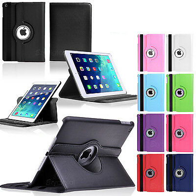 360°Rotating Smart Wake-Up Flip Leather Case Cover For New iPad Mini 4 4th Gen