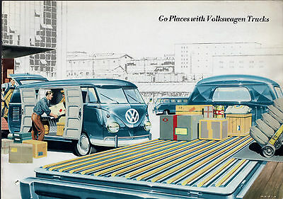 Volkswagen Transporter Split Screen 1958-59 UK Market Sales Brochure