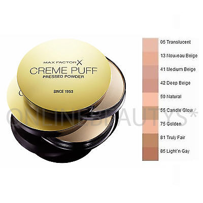 Max Factor Creme Puff Compact Powder - Choose Your Shade - Brand New